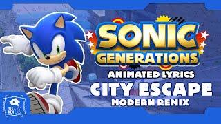 "SONIC GENERATIONS ""BLUE BLUR CITY ESCAPE ACT 2"" ANIMATED LYRICS."