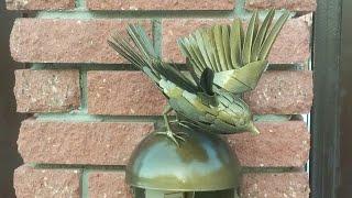 птица из металла, козырёк для кнопки звонка вызывной панели домофона. Говорун