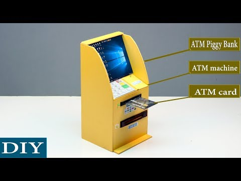 How to Make an ATM Piggy Bank at home for kids | BankNote version