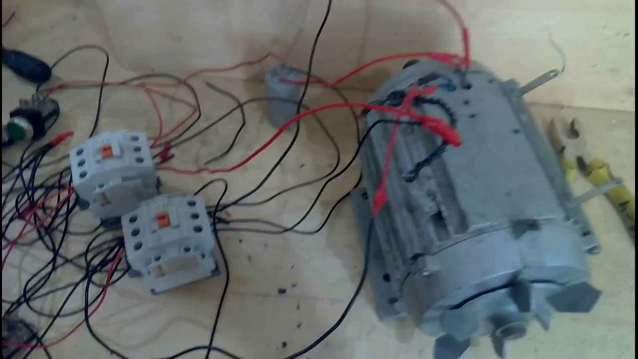 small resolution of how to control a single phase motor manual and auto reverse forward system