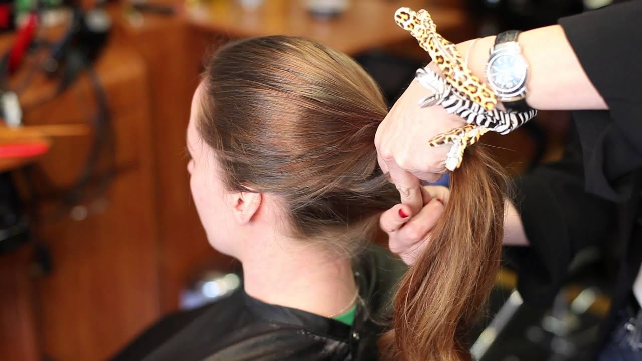 Ponytail without hair band - How To Put Your Hair In A Ponytail Without It Leaving A Line Beauty Makeup Advice