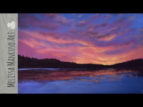 Drawing a Winter Landscape in Soft Pastels – Melissa Mancuso Art