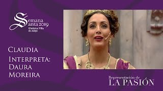 ver video: Daura Moreira interpreta a Claudia. La Pasión de Adeje 2019.