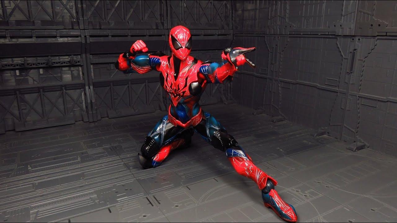 play arts kai spiderman black
