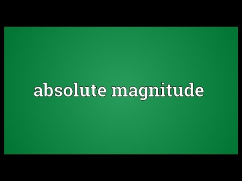 Absolute magnitude Meaning