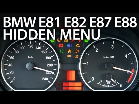 How to enter hidden menu in BMW 1 Series (E81 E82 E87 E88 OBC service mode)