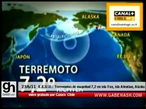 TERREMOTO DE MAGNITUD 7.2 EN FOX ISLANDS, ALEUTIAN ISLANDS, ALASKA 23 JUNIO 2011
