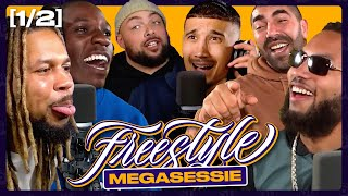 Heftige discussie bij MEGASESSIE PT.1 | SUPERGAANDE FREESTYLE ft. Bokoesam Sjaak Saaff Caza & Ginger
