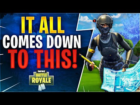 IT ALL COMES DOWN TO THIS! Fortnite Battle Royale