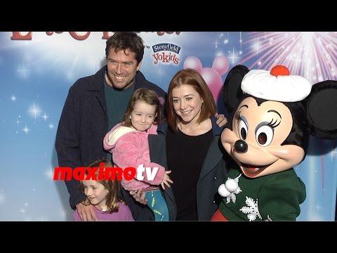 Alyson Hannigan & Alexis Denisof  Disney on Ice Let's Celebrate! Premiere  Red Carpet