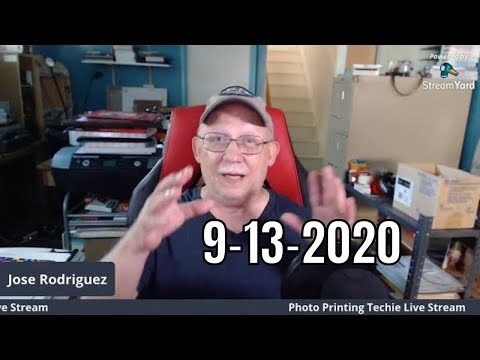 Jose Rodriguez Photo Printing Techie Sunday Live Stream 4PM Eastern Time USA 9-13-2020