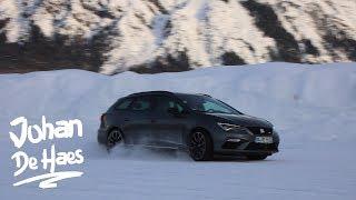 2018 SEAT Leon ST Cupra 4DRIVE 300 hp POV Test drive in SNOW