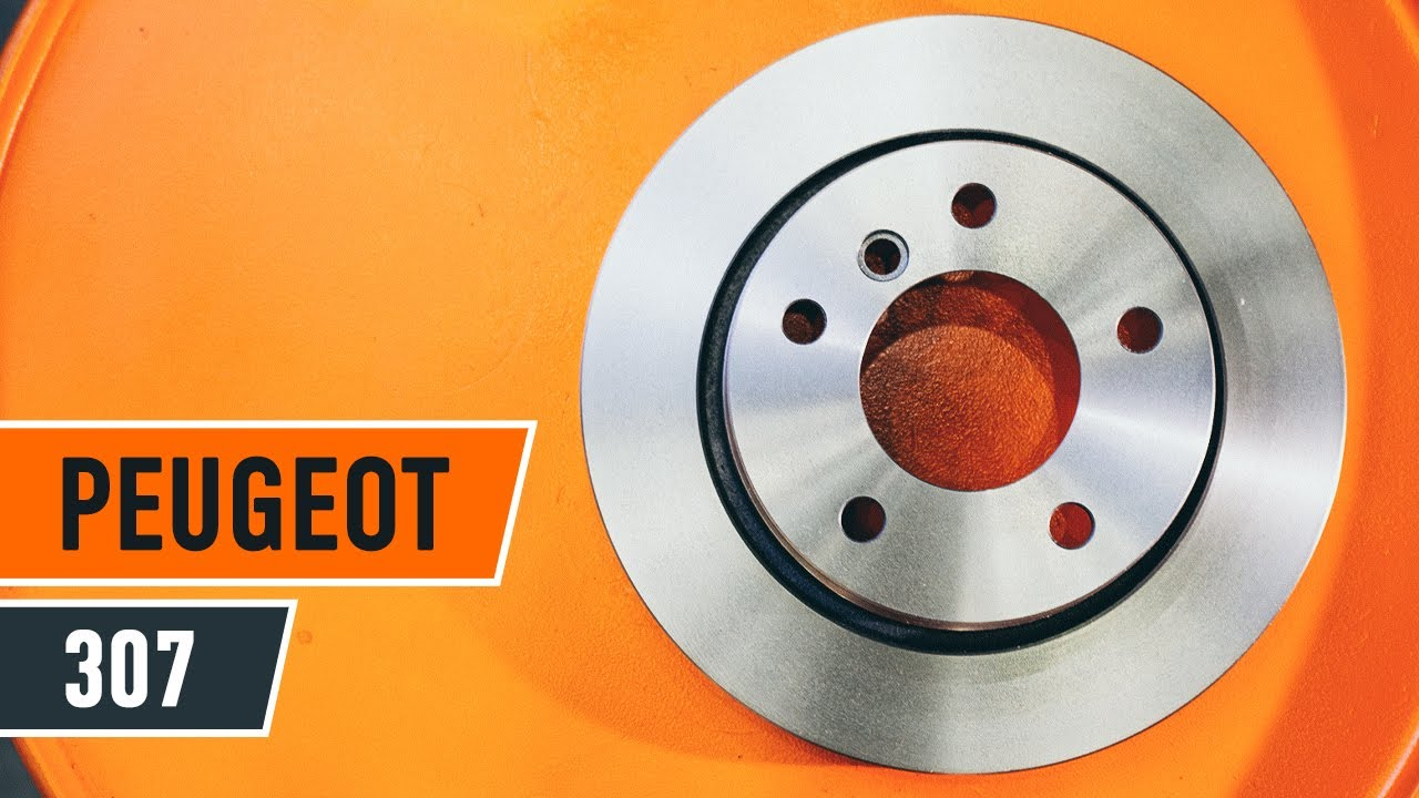how to replace front brake discs and front brake pads on peugeot