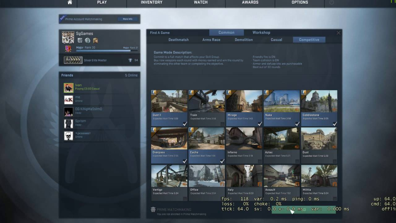 Cs go matchmaking not working