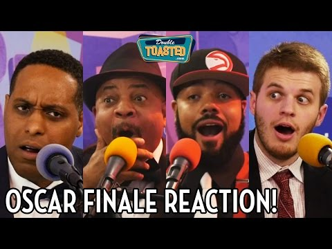 OSCARS MISTAKE: MOONLIGHT FOR BEST PICTURE MIX UP REACTION - Double Toasted Live Coverage