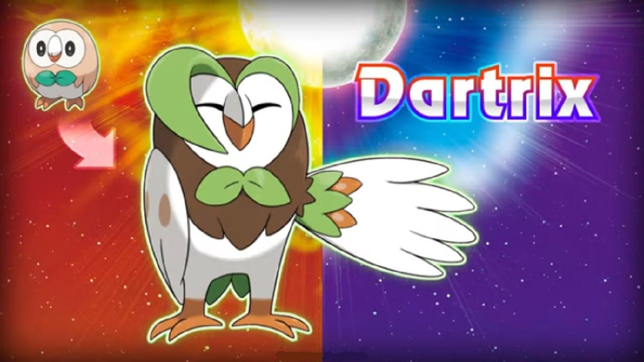 Pokémon Moon: Rowlet Evolves into....! - YouTube