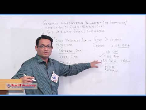 Genetic Engineering - NEET AIPMT AIIMS Botany Video Lecture