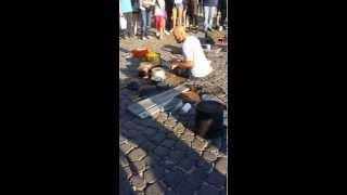 dario rossi drummer spettacolare napoli piazza plebiscito 19 10 2014
