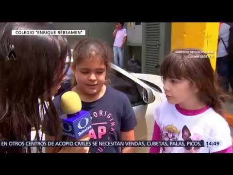 Niñas del colegio Enrique Rébsamen comparten lo que vivieron