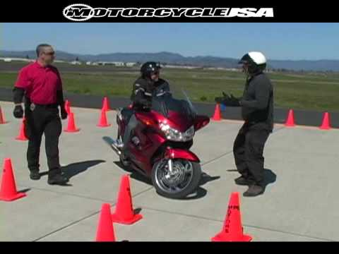 honda st1300 motorcycle police training - youtube