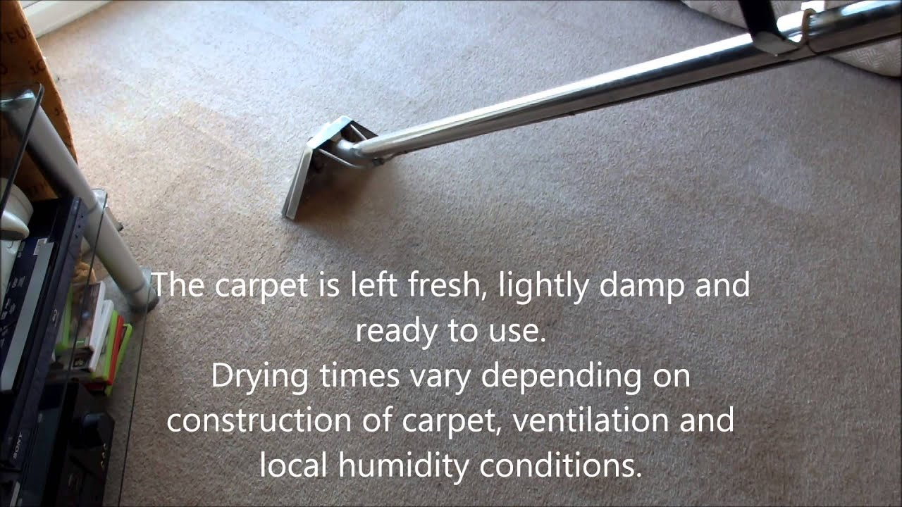 Carpet cleaning process, Airflex Turbo/Storm Envirodri ...