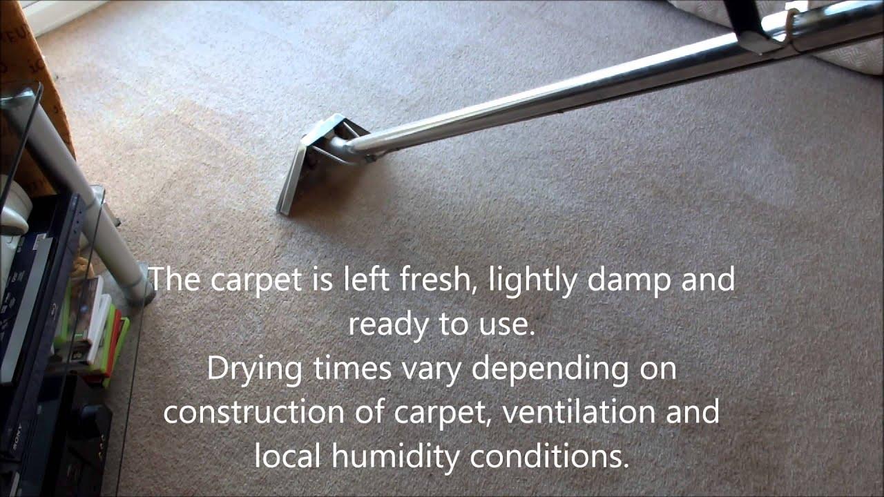 Carpet cleaning process, Airflex Turbo/Storm Envirodri
