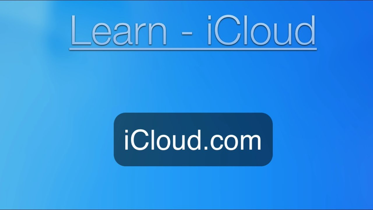 icloud explained for dummies