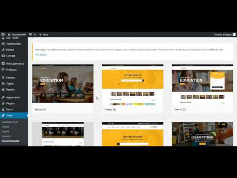 Education WordPress theme _ Education WP – Install theme and Import demo