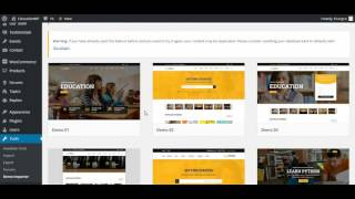 Education WordPress theme _ Education WP - Install theme and Import demo