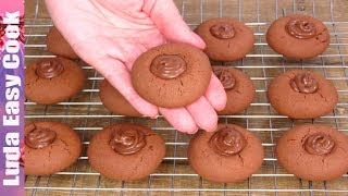 ДЕТСКОЕ ПЕЧЕНЬЕ из трех ингредиентов НУТЕЛЬЧИКИ домашнее печенье на ДЕТСКИЙ ПРАЗДНИК