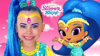 Alice magic turn into Shine and Shimmer & pretend play with toy genie