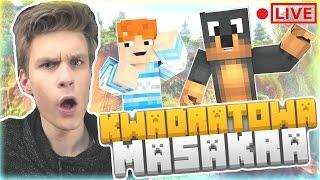 [ LIVE ] - KWADRATOWA MASAKRA #3   LAMY I PRZYJACIELE O.o  / Narf   Minecraft 1.12