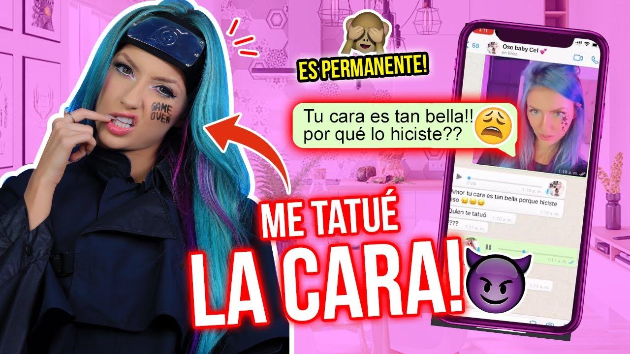 ME TATUÉ LA CARA!!😱 BROMA A MI EX!!🙊⚠️🚨 | Katie Angel