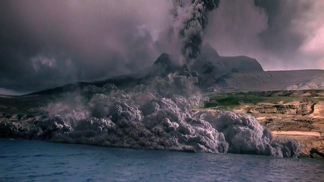 Volcanic Eruption Santorini Hd