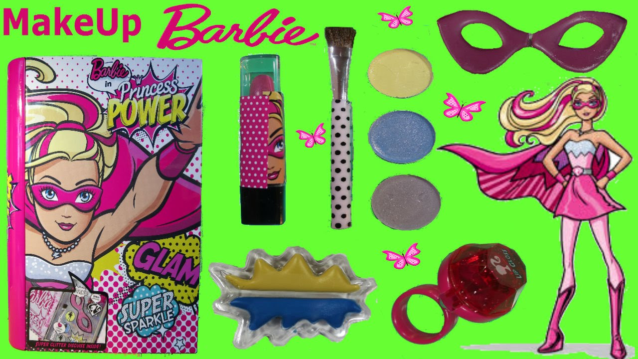 Barbie Makeup Metallic Box Set Princess Power Kit