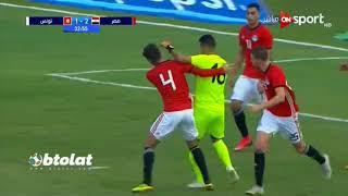ملخص مباراة مصر وتونس الاوليمبي (4-1)  مباراة ودية  HD