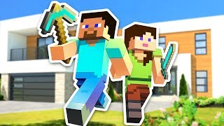 Upgrading our house in Minecraft w/ my boyfriend Typical Gamer!! If...