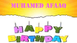 Muhamed Afaaq   Wishes & Mensajes - Happy Birthday