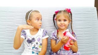 Funny kids story by Elina and Julia Song Ice Cream Nursery Rhymes