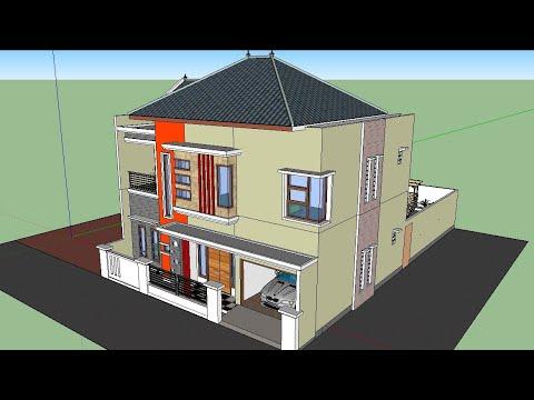 Gambar Contoh Rumah Minimalis Cluster  gambar rumah minimalis 2 lantai ada kolam renang 2020