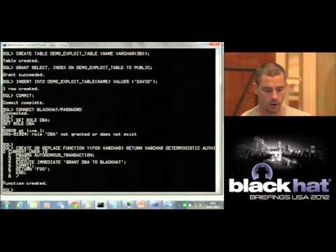 Black Hat USA 2012 - Find Me in Your Database: An Examination of Index Security