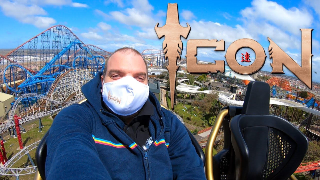 Wearing A Face Mask Whilst Riding ICON at Blackpool Pleasure Beach | Will It Stay On?