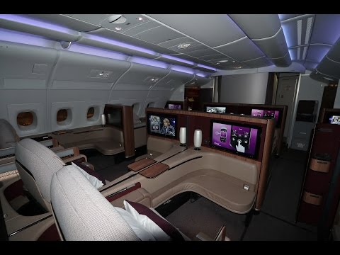 Qatar Airways A380 First Class 5 star experience Bangkok to Doha