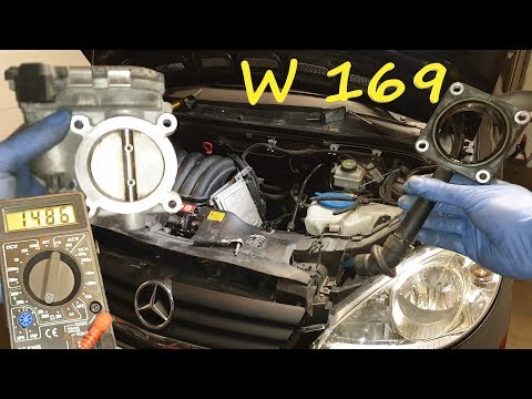 Mercedes W169 A Class 150 -Throttle Body - Clean / Removal /Test / Replacement