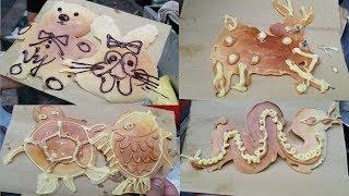 Thán phục chị gái làm bánh siêu nhanh vẽ hình mọi loài thú đều dễ thương