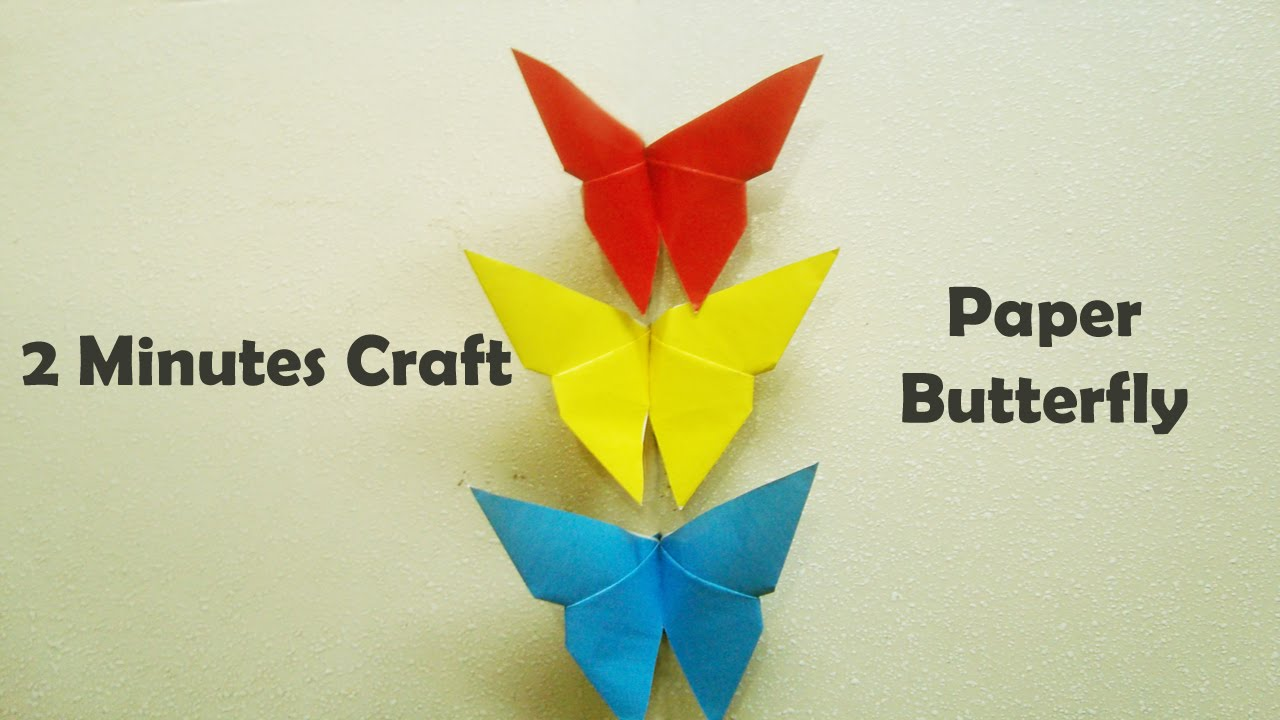 How to Make Beautiful Paper Butterfly - YouTube