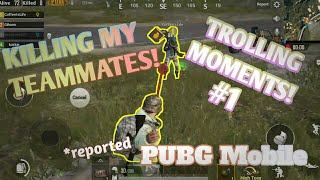 FUNNY/TROLLING Moments in PUBG Mobile! #1!