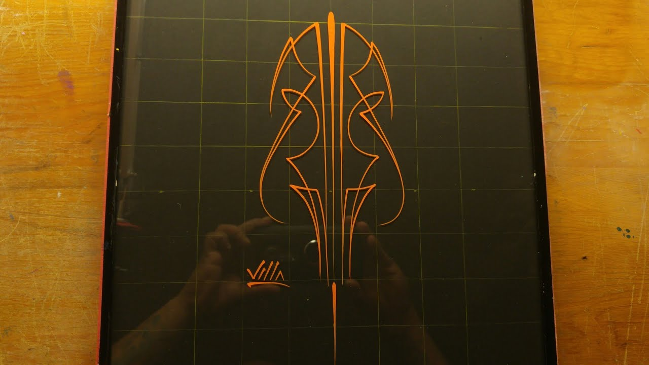 How To Pinstripe Simple Pinstriping Design 22 Youtube