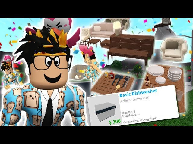 Bloxburg Casa De Bota Navidena Actualizacion Roblox Youtube The New Bloxburg Update Washing Dishes Furniture On Roofs And More Youtube