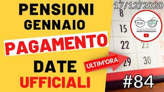 Finalmente le date di turnazione ufficiale #pagamento delle #pensioni gennaio 2021 ecco il calendario #inpscalendario poste italiane inps pag...